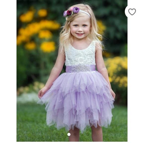 acdfc8b25d174 sweet valentina Dresses | Lace Tulle Lavender Flower Girl Dress ...